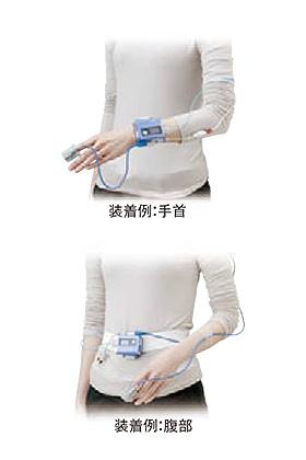 簡易睡眠時無呼吸検査の装着図